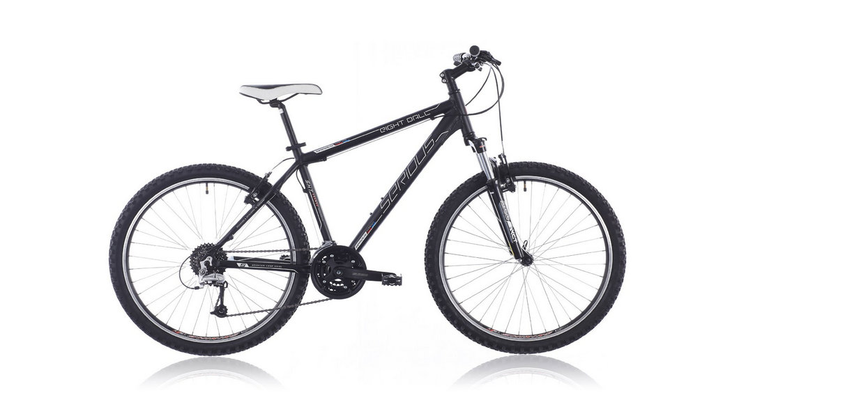 serious mountainbike eight ball black matt im test. Black Bedroom Furniture Sets. Home Design Ideas